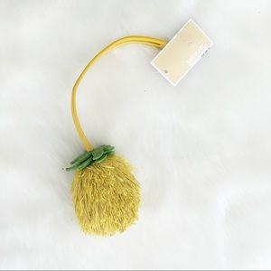 MK Sunflower Leather FOB Lemon Purse Accent Charm